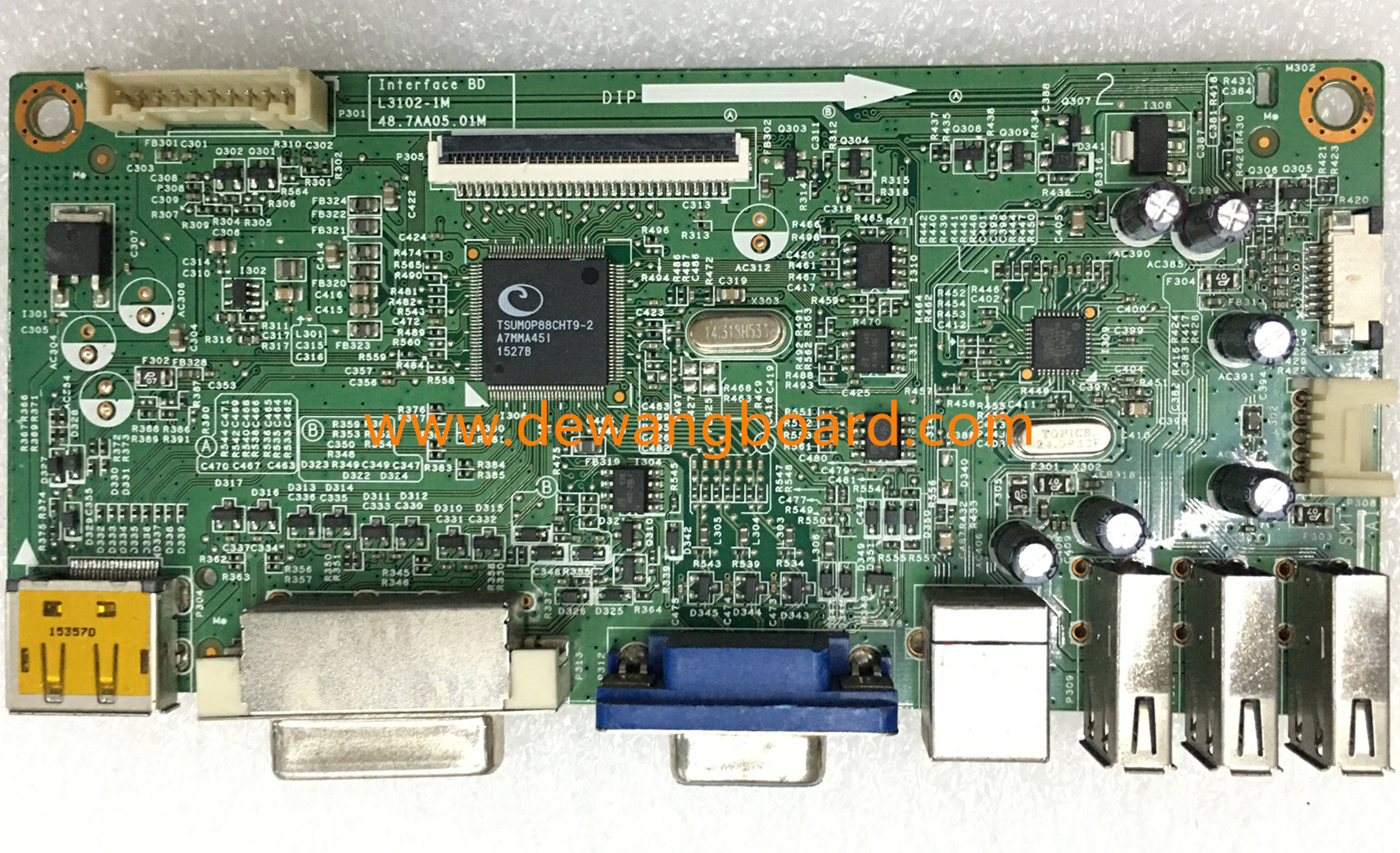 dell P2014H main board L3102-1M 48.7AA05.01M