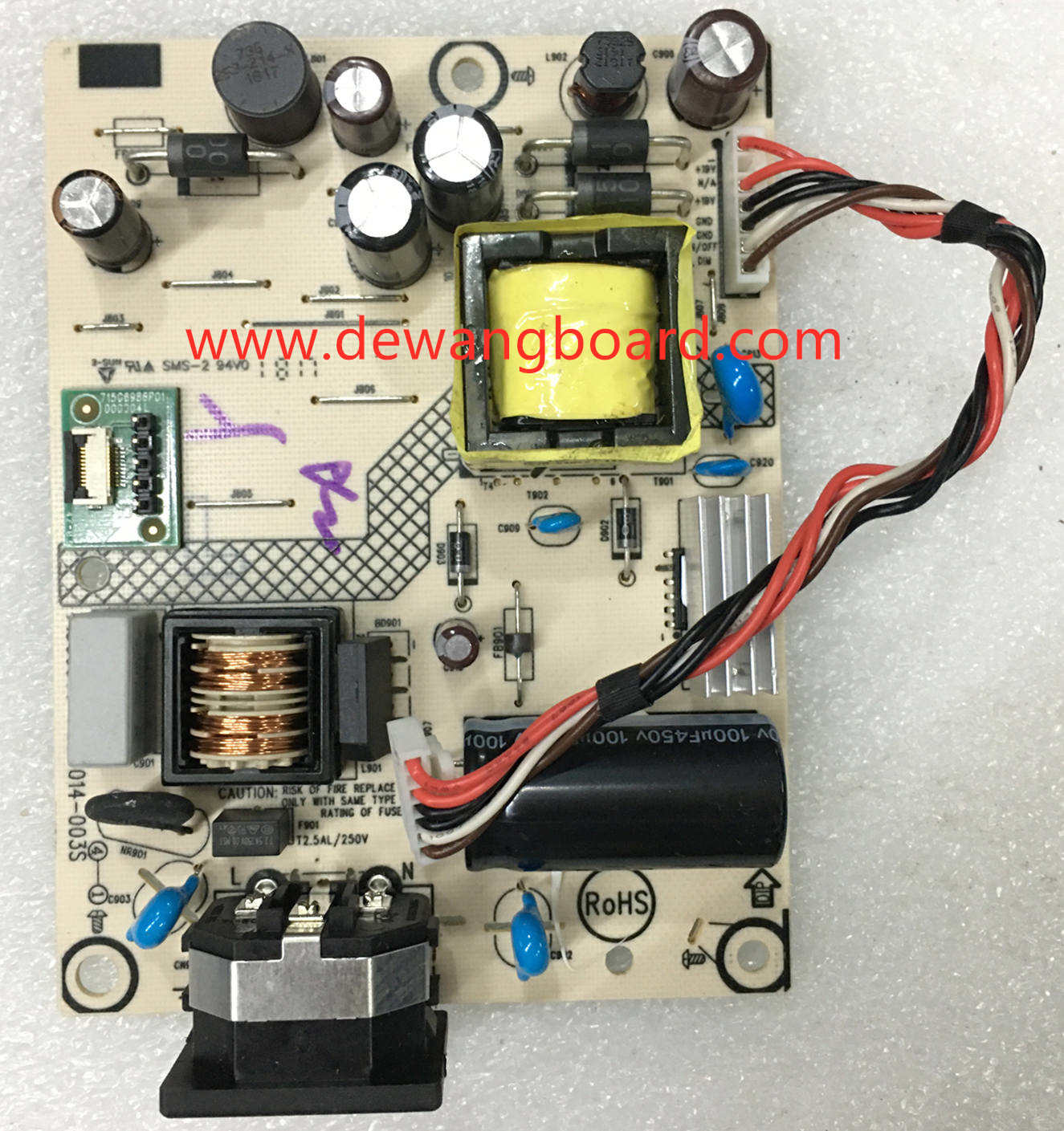 viewsonic VA229 power supply board 715G6503-P03-014-003S