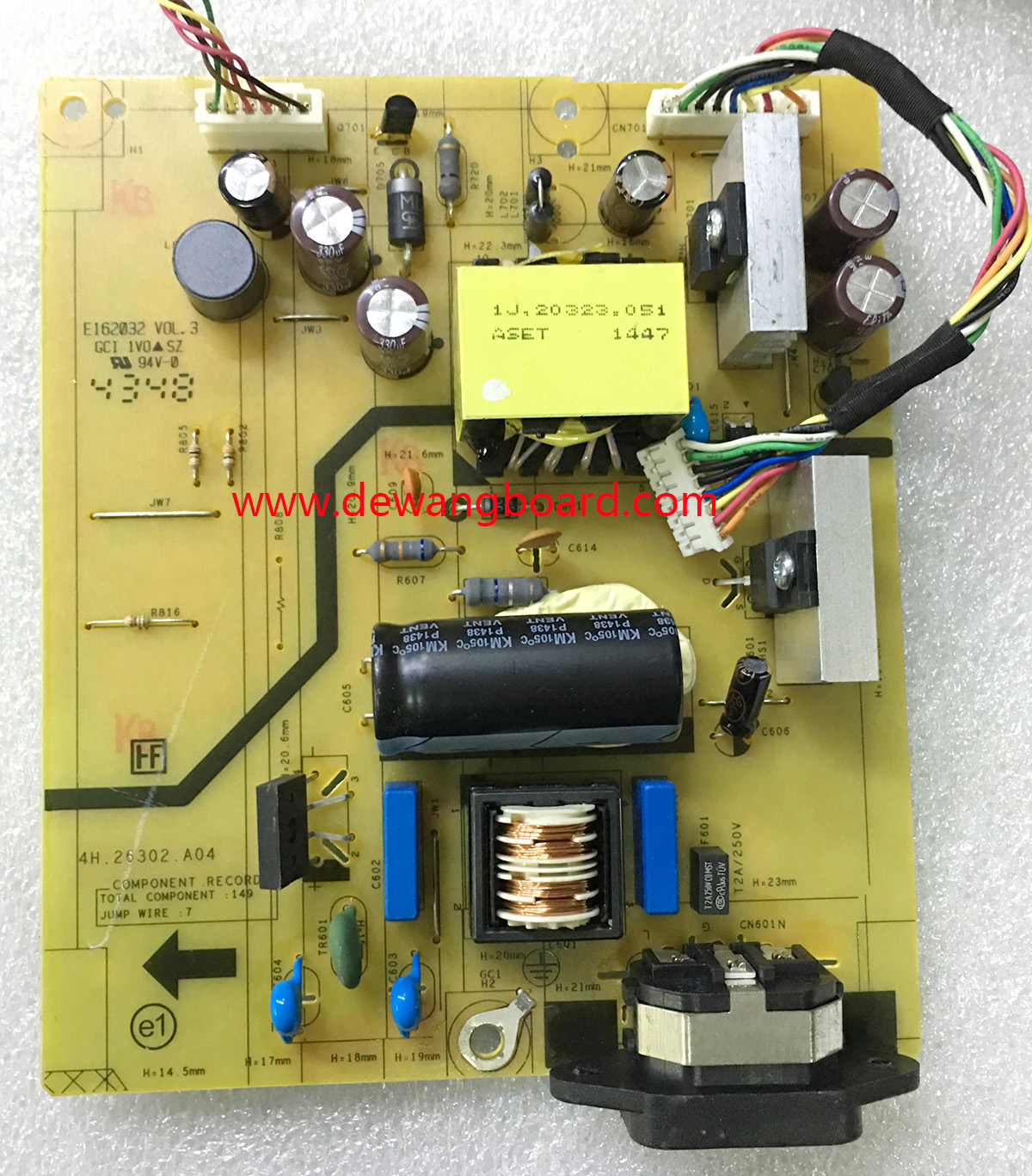 4H.26302.A04 dell P2414H power supply board (led 6p)