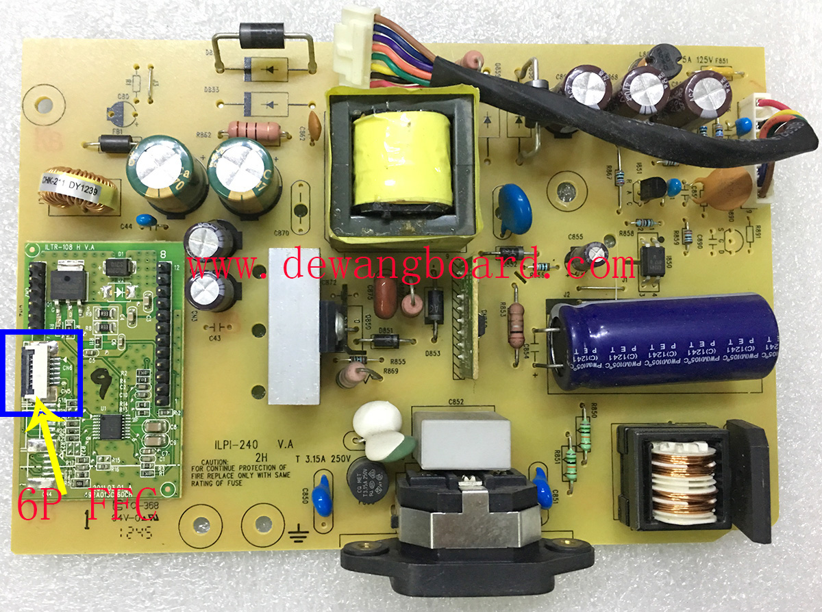 ILPI-240 491A01051400H dell ST2320LF supply power board