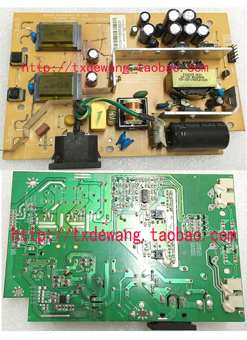 PI-190DTLB REV:A 200-000-170DTLBMH power supply board