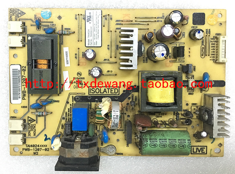 PWB-1207-02 viewsonic VA2216W supply power board