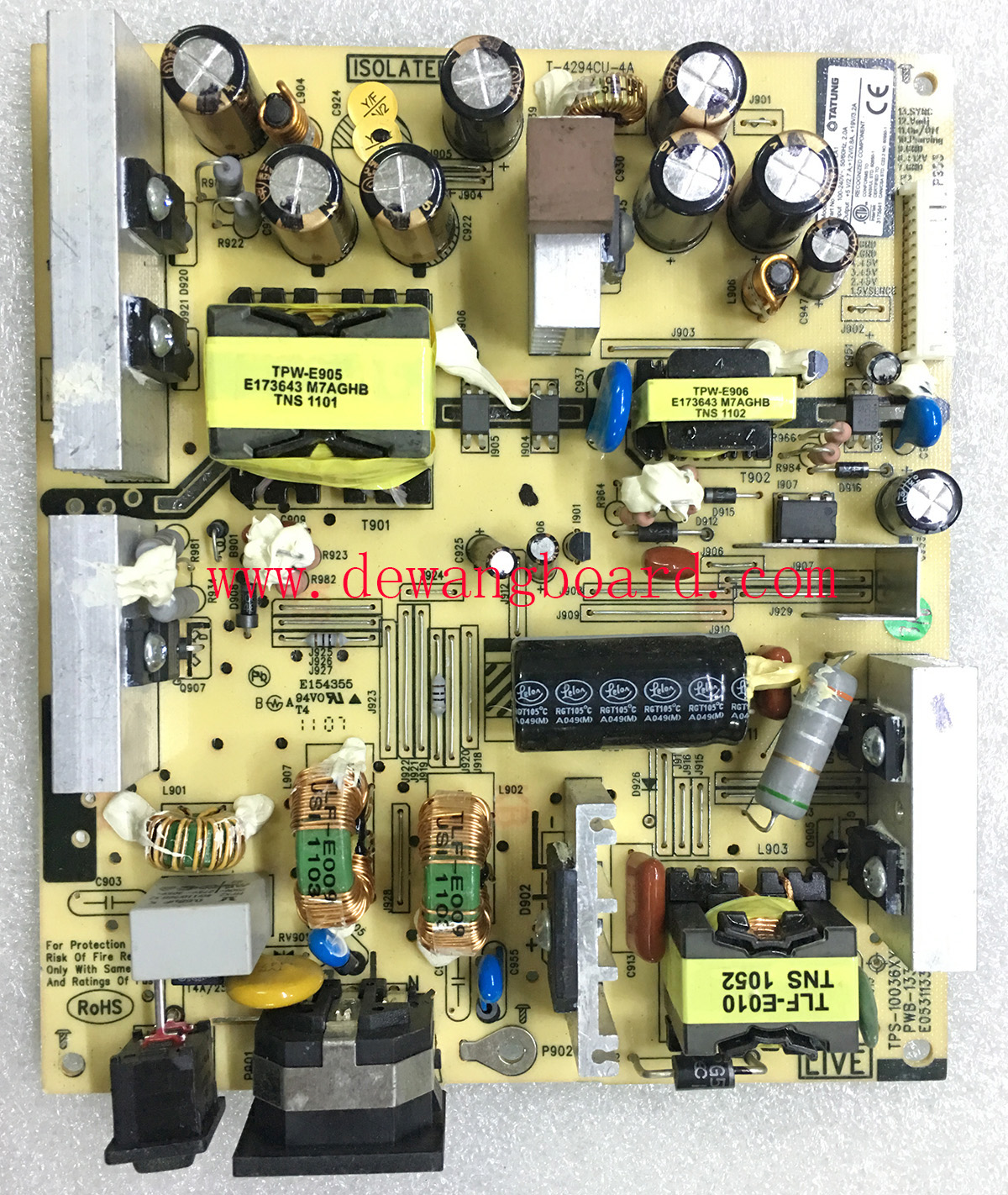 TPS-10036XXXX PWB-1336-02 E053113362 HP ZR24W power board