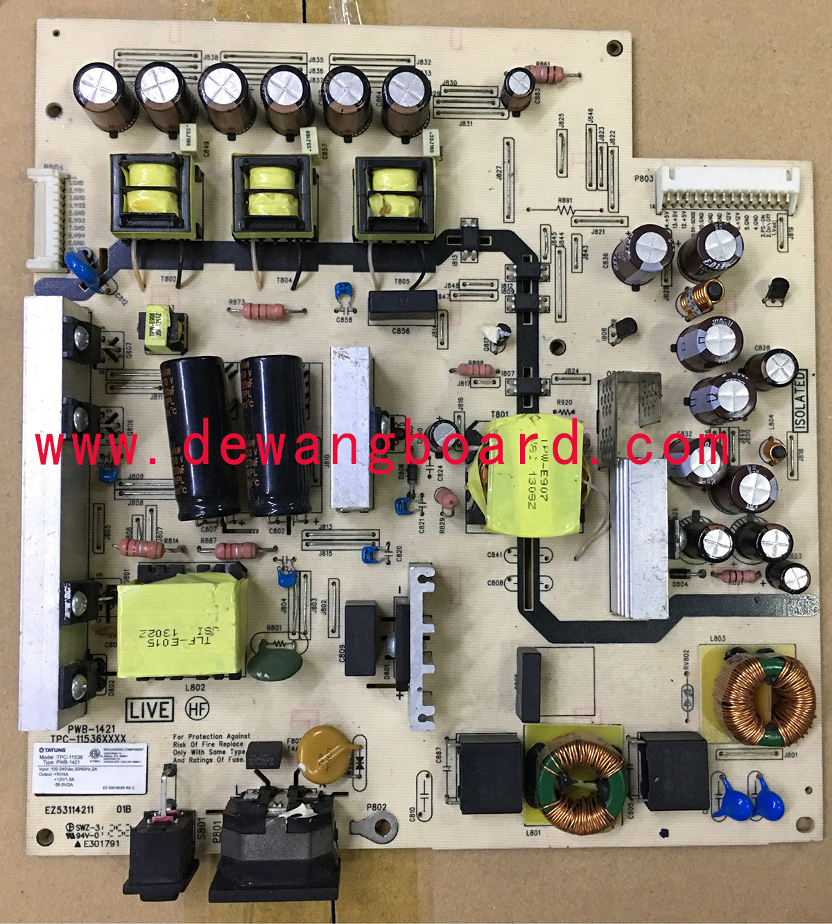PWB-1421 TPC-11536 HP ZR2740W LED supply power board+backlight