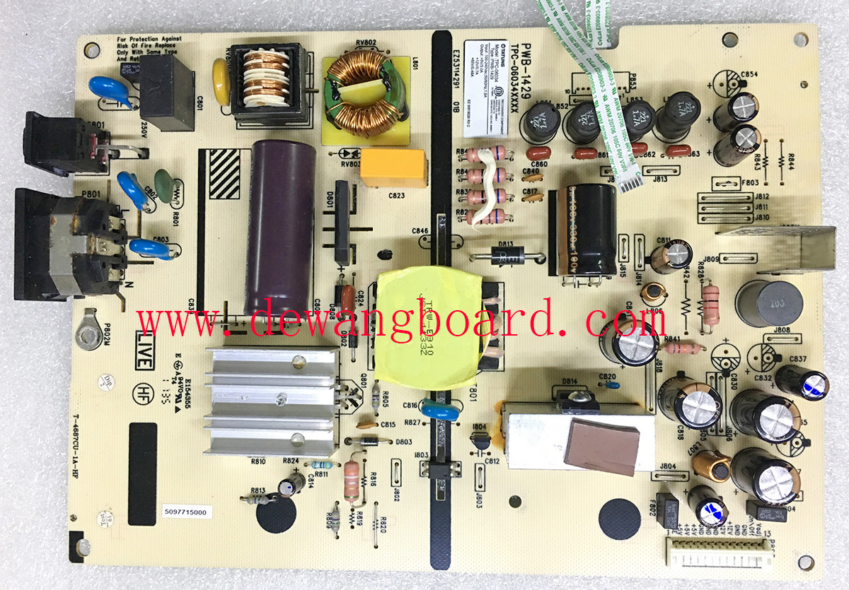 PWB-1429 TPC-06034 HP ZR2440W supply power board